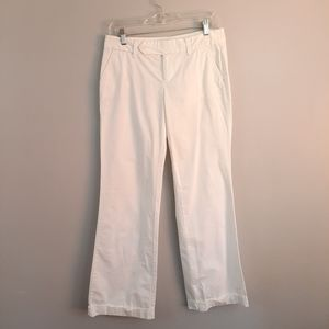 Old Navy White Cotton Wide Leg Cuffed Pants